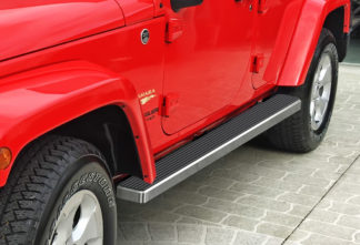 iStep 5 Inch Running Boards 2007-2018 Jeep Wrangler (Hairline)