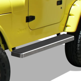 iStep 5 Inch Running Boards 1987-2006 Jeep Wrangler (Hairline)