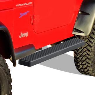 iStep 5 Inch Running Boards 1987-2006 Jeep Wrangler (Black)