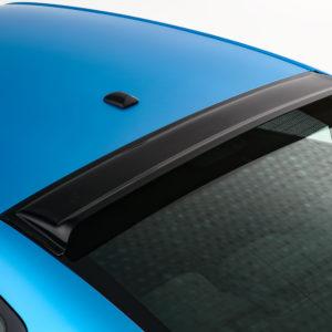 GT Styling Rear Window Deflector; Solarwing II (R); Smoke; Plastic; 2011-2020 Dodge Charger