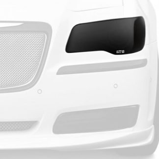 GT Styling Headlight Cover; Full Cover; Solid; Smoke; Plastic; Set Of 2; 2011-2015 Chrysler 300 HEMI