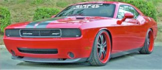 GT Styling Driving/ Fog Light Cover; Direct-Fit; Smoke; Plastic; Solid; Set of 2; 2008-2014 Dodge Challenger