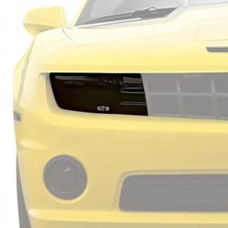 GT Styling Headlight Cover; Full Cover; Solid; Smoke; Plastic; Set Of 2; 2010-2013 Chevy Camaro