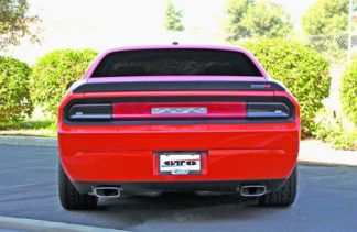 GT Styling Tail Light Cover; Blackouts; Solid; Smoke; Plastic; Set Of 2; 2008-2014 Dodge Challenger