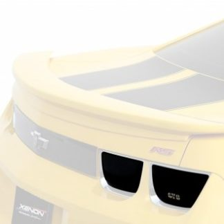 GT Styling Tail Light Cover; Blackouts; Solid; Smoke; Plastic; Set Of 4; 2010-2013 Chevy Camaro