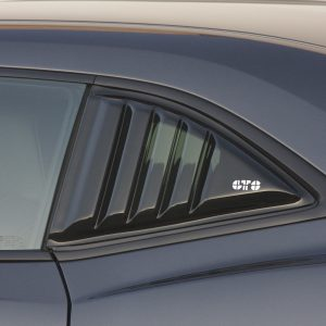 GT Styling Window Louver; Rear Quarter Window; Louvered; Smoke; Composite; 2010-2015 Chevy Camaro