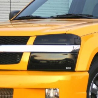 GT Styling Headlight Cover; Full Cover; Solid; Smoke; Plastic; Set Of 2; 2004-2012 Chevy Colorado