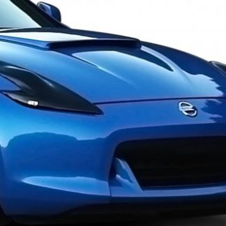 GT Styling Headlight Cover; Full Cover; Solid; Smoke; Plastic; Set Of 2; 2009-2014 Nissan 370Z