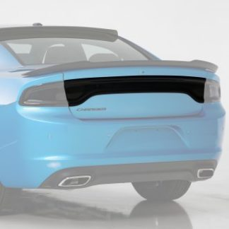 GT Styling Tail Light Center Panel Cover; Blackout; Smoke; Mounts With 3M Dual Lock; Single; 2016-2020 Dodge Charger