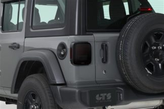 GT Styling Tailgate Cover; Smoke; Set Of 2; 2018-2019 Jeep Wrangler JL