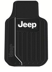 Floor Mat; Floor Mats; Universal 31 Inch Length X 18 Inch Width X 1 Inch Height; Jeep Logo
