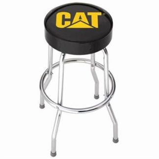 Stool; Garage Stools; Round Black Vinyl Seat With Yellow CAT Logo