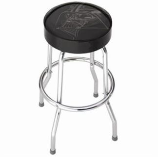Stool; Garage Stools; Round Black Vinyl Seat With Darth Vader Face