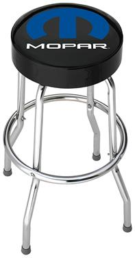 Stool; Garage Stools; Round Black Vinyl Seat With Mopar Logo