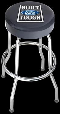 Stool; Garage Stools; Round Black Vinyl Seat With Built Ford Tough