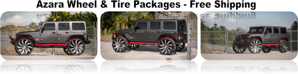 Jeep Wrangler Rims And Tire Packages >> Azara Wheels Model 501 502 507 521 522 523
