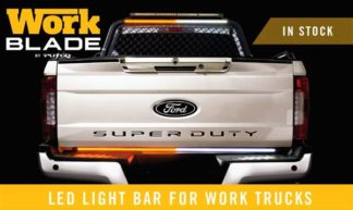 Light Bar - LED; Work Blade; 60 Inch Length; LED; Amber/ Blue/ White Over-Ride; Clear Lens;