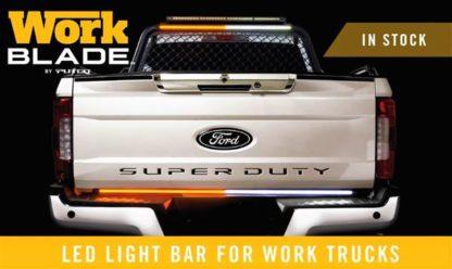 Light Bar - LED; Work Blade; 60 Inch Length; LED; Amber/ Blue/ White Over-Ride; Clear Lens;
