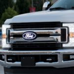 Luminix Ford LED Emblems ; 2017 - 2019 Ford F-350 Super Duty Front Emblem - Without camera.