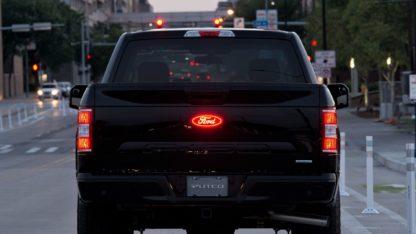 Luminix Ford LED Emblems ; 2017 - 2019 Ford F-350 Super Duty Rear Emblem.