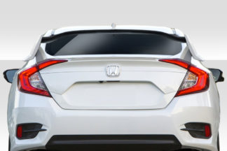 2016-2020 Honda Civic 4DR Duraflex Type R Look Rear Wing Spoiler - 3 Piece