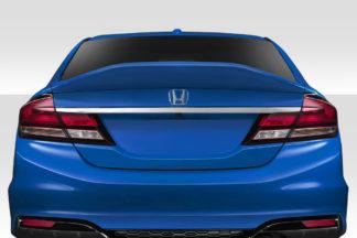 2012-2015 Honda Civic 4DR Duraflex KMZ Rear Wing Spoiler - 1 Piece