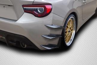 2013-2020 Scion FR-S Toyota 86 Subaru BRZ Carbon Creations GT500 V3 Rear Bumper Canards - 6 Piece