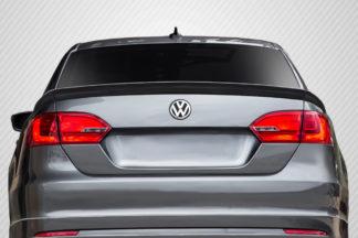2011-2014 Volkswagen Jetta Carbon Creations R Look Rear Wing Trunk Lid Spoiler - 3 Piece