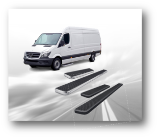 6 Inch iSteps Cargo Van Running Boards