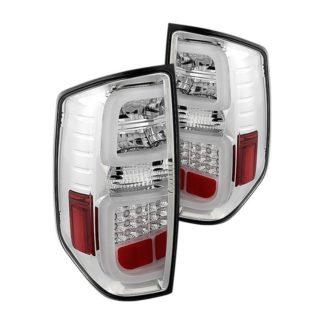 Toyota Tundra 2014-2019 Light Bar LED Tail Lights - Reverse-7440(Not Included) - Chrome