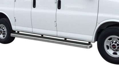 iStep 6 Inch Van Running Board; 2003-2020 Chevy Savana 3500   (1 Pair)