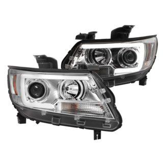 Chevy Colorado 15-19 Projector Headlights - Light Bar LED - Chrome