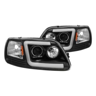 Ford F150 97-03 / Expedition 97-02 1PC Light Bar Projector Headlights - ( Will Not Fit Manufacture Date Before 6/1997 ) - Black