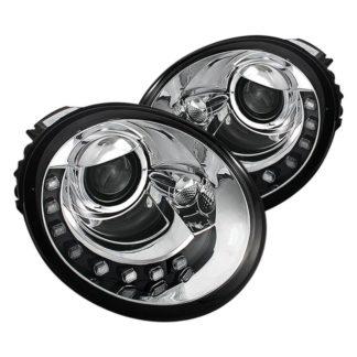 Volkswagen Beetle 1998-2005 Projector Headlights - DRL - Chrome