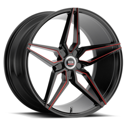 Spec-1 Racing Wheel | Monospec SPM-81R | Gloss Black Red Line