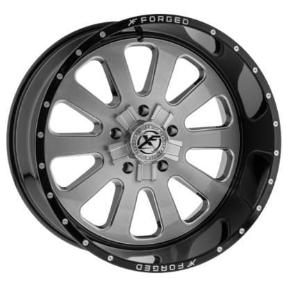 XF Forged Off-Road Wheel | Model XF-302 Brushed Gloss Black Lip