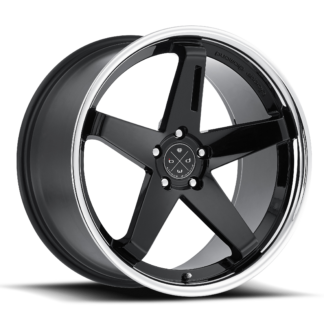 The Blaque Diamond Model BD-21 Glossy Black Stainless Steel Lip Custom Wheel presents a destinct innovative style to seperate your vehicle from the rest. Blaque Diamond Wheels are designed in the U.S.A. and offered globally to high-end luxury