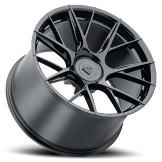 The Blaque Diamond Model BD F-18 Glossy Black Custom Wheel presents a destinct innovative style to seperate your vehicle from the rest. Blaque Diamond Wheels are designed in the U.S.A. and offered globally to high-end luxury