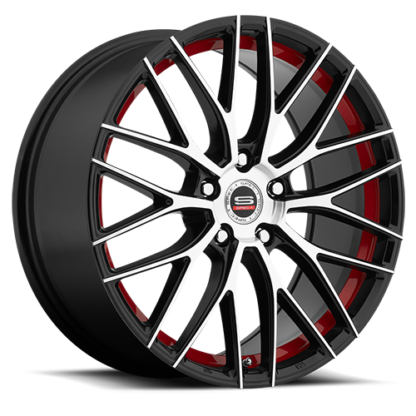 Spec-1 Racing Wheel | Model SP-17 | Gloss Black Machined Red Line