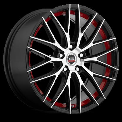 Spec-1 Racing Wheel | Model SP-17 | Gloss Black Machined Red Line