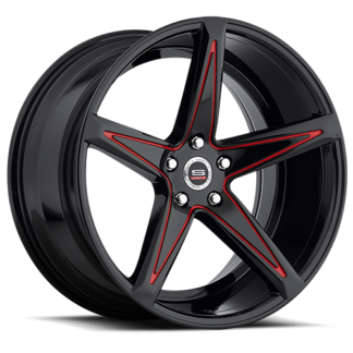 Spec-1 Racing Wheel | Monospec SPM-78R | Gloss Black Red Accent