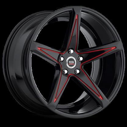 Spec-1 Racing Wheel | Monospec SPM-78R | Gloss Black Red Accent