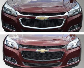 2014-2015 Chevrolet Malibu  LS/LT/LT TURBO/ECO/LTZ 2PC Gloss Black MESH Overlay Grille