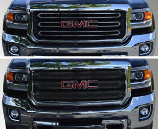2015-2018 GMC Sierra 2500 HD  | 2015-2018 GMC Sierra 3500 HD  SLE/SLT 3PC Gloss Black  Overlay Grille