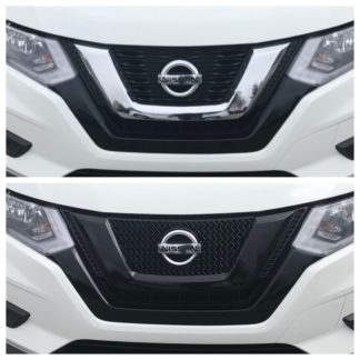 2017-2017 Nissan Rogue  EARLY MODEL 17 1PC Gloss Black Overlay Grille