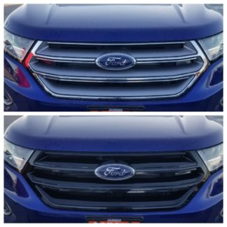 2015-2018 Ford Edge  NO CAMERA 1PC Gloss Black Overlay Grille