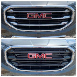 2018-2020 GMC Terrain  6PC Gloss Black  Overlay Grille