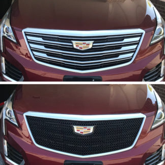 2017-2019 Cadillac XT5  DOES NOT FIT CAMERA 1PC Gloss Black  Overlay Grille
