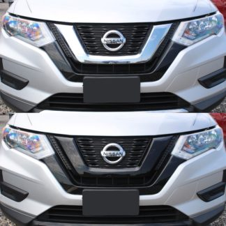 2018-2020 Nissan Rogue  2PC Gloss Black  Overlay Grille