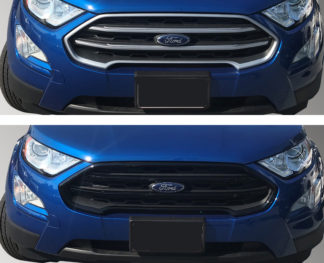 2018-2020 Ford EcoSport 3PC Black Overlay Grille